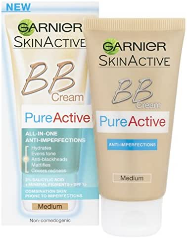 Garnier Pure Active Bb Cream By Combination Skin 50Ml Medium