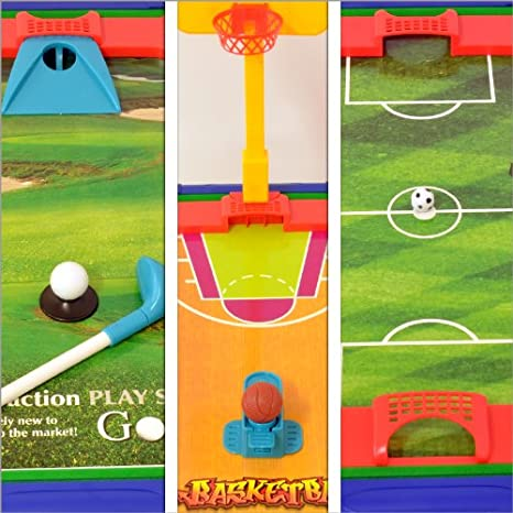 Mesa de minijuegos 6 en 1 – Seis deportes diferentes: Amazon.es ...