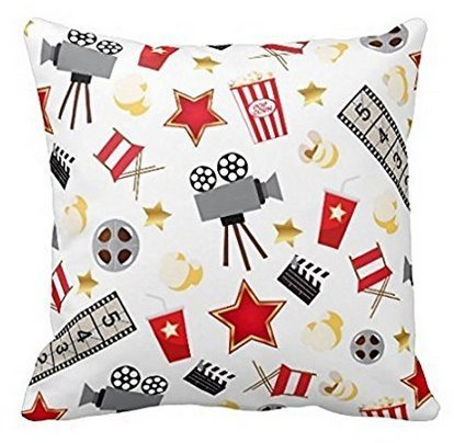 Leiacikl22 Retro Acting Movies Theatre/Theater Pillow Covers 18'' X 18''