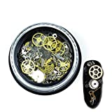 1 Set Ultra Thin Gear Steampunk Nail Art Rhinestone In Wheel 3D Steam Punk Metal Studs Accessories Decoration DIY Manicure Nails Tools Tips Kits Alluring Popular Xmas Winter Snow Holidays Tool Kit