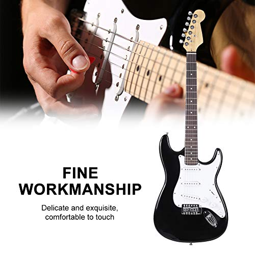 Electric Guitar Kit, 39inch Full Size Solid Wood Electric Guitar 6 String with Tuner, Strings, Picks, Guitar Bag, Shoulder Strap Accessories for Beginners Starters