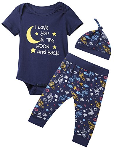 Baby Boys 3PCS Outfit Set to The Moon