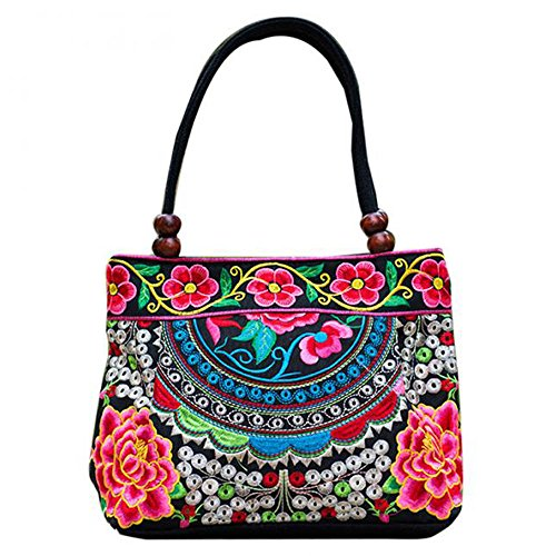 Vintage Embroidery Boho Womens Handbag