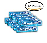 PACK OF 10 - Fixodent Complete Free Denture Adhesive Cream, 2.4 oz