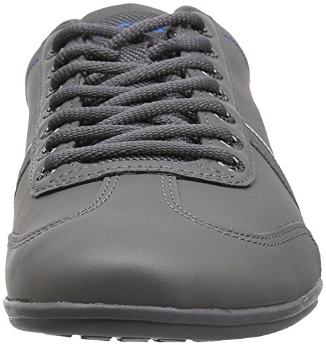 Lacoste Mäns Misano Sport Sneakers Dkgry / Blu Läder