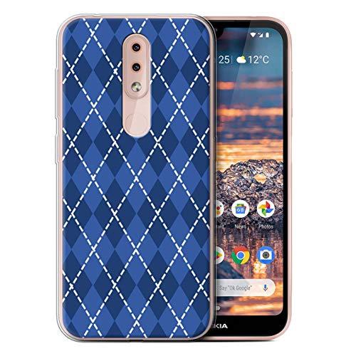 (eSwish Gel TPU Phone Case/Cover for Nokia 4.2 2019 / Winter Argyle Design/Blue Fashion Collection)
