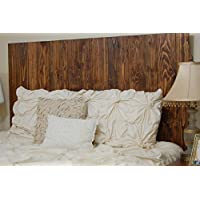 Honey Oil Based Stain Finish - King Hanger Headboard with Vertical Boards. Mounts on Wall.