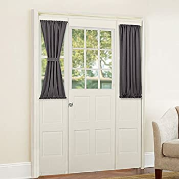 PONY DANCE Sidelight Door Curtain - Blackout Thermal Insulated Privacy Protect Window Curtains for Front Doors & Amazon.com: PONY DANCE Sidelight Door Curtain - Blackout Thermal ...