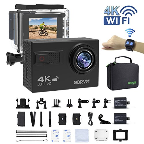 4k Action Camera WiFi with 2.4G Remote Control Underwater Ca