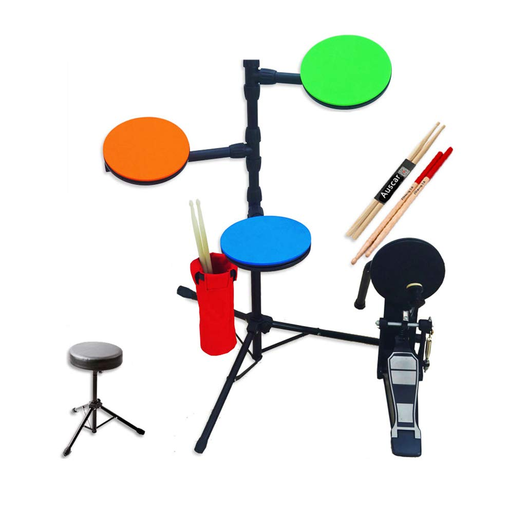 LIUFS-Trommel Dumb Drum Set Drum Multifunktionskinder üben Performance Percussion Music Gift (größe   A) C