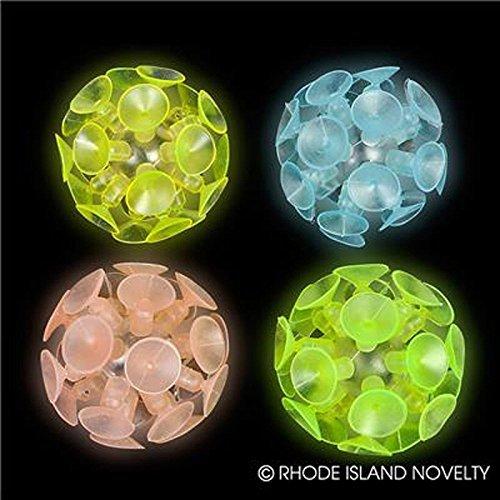 Dozen Suction Balls Glow Dark