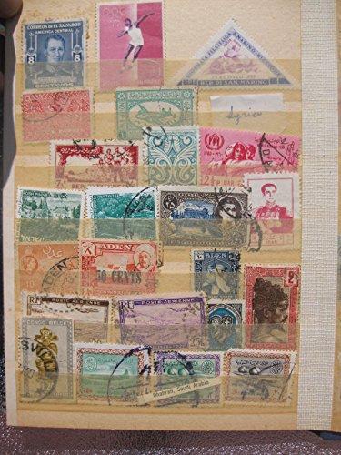 Collection of antique stamps Saudi Arabia, Aden, UAE, San Marino, Algeria, Madag