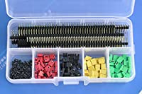 Electronics-Salon Pin Headers / Socket Connectors / Jumper Caps Assortment Kit. for Arduino / Raspberry Pi / Electronic Technology DIY Learning etc. by Electronics-Salon