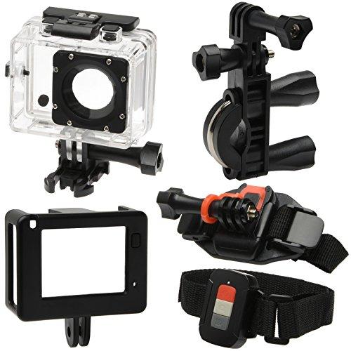 Vivitar DVR914HD 1440p HD Wi-Fi Waterproof Action Video Camera Camcorder (Black) + Remote, Helmet, Bike, Suction Cup + Dashboard Mounts + 64GB + Case Kit by Vivitar (Image #2)