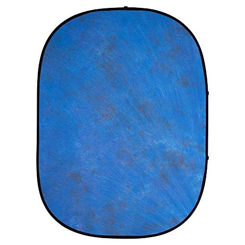 Interfit PB102 Studio Essentials Collapsible - 5' x 6.5' Pop-Up Background - Muslin, Dark Blue/Light Blue