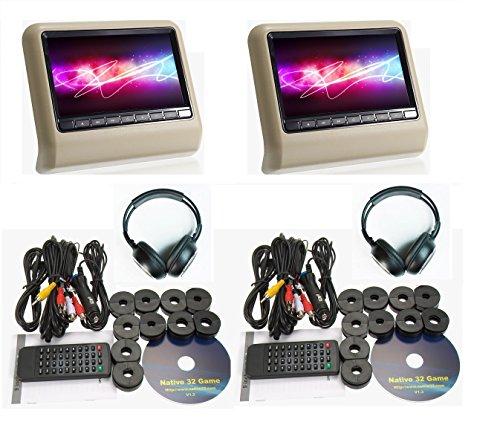 car dvd player headrest set - 9