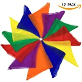 Dance Scarves Music Scarves for Children Movement and Juggling 12pcs