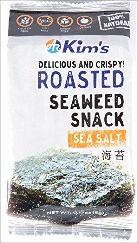 Kim's Roasted Seaweed (Nori) Snacks, Sea Salt (16 packs). USA version ()