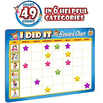 Amazon.Com: Rewards Chore Chart For Kids - 49 Responsibility And