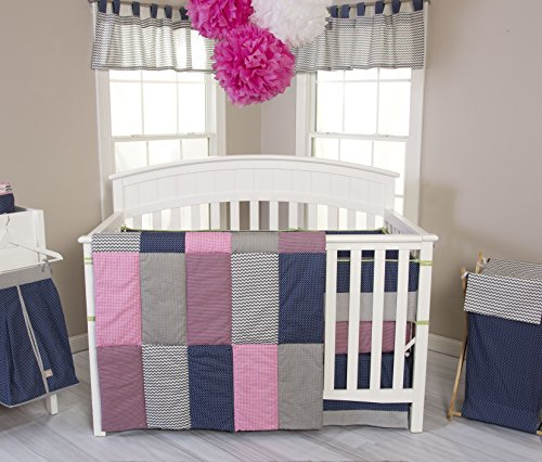 Lab Set Pink Trend Crib - Trend Lab 3 Piece Perfectly Pretty Crib Bedding Set