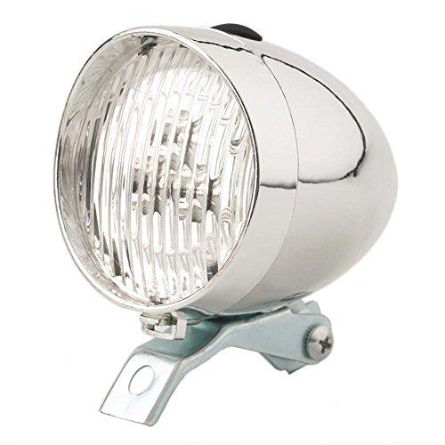 GohEun Vintage Retro Bicycle Bike Front Light Lamp 3 LED Fixed Headlight With Bracket