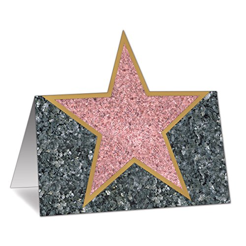(Club Pack of 144 Hollywood Celebrity Awards Night Star Place Cards)