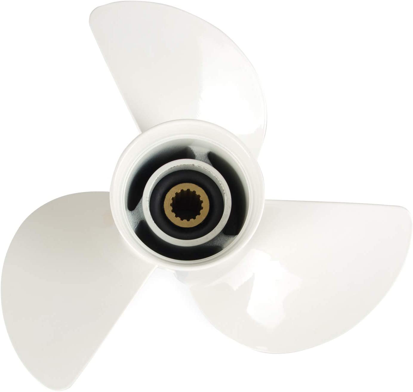 Tepeng 13 1/4 x 17 Outboard Propeller Right Rotation Propeller Compatible with Yamaha Outboard Engines 50-130 HP,Replace #6E5-45945-01-EL