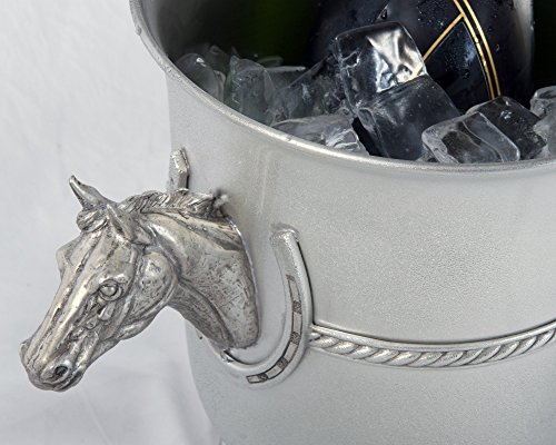 Vagabond House Pewter Horse Head Ice/Wine/Champagne Bucket 9