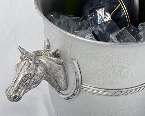 Vagabond House Pewter Horse Head Ice/Wine/Champagne Bucket 9