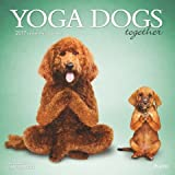 Yoga Dogs Together 2017 Square Plato