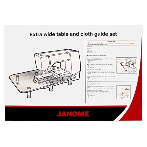 Image of Attachments Janome Extra Wide Table with Cloth Guide Fits MC8900, 8200, 7700 & More!