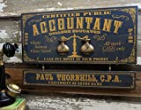 Accountant Wood Profession Sign with Personalized Nameboard