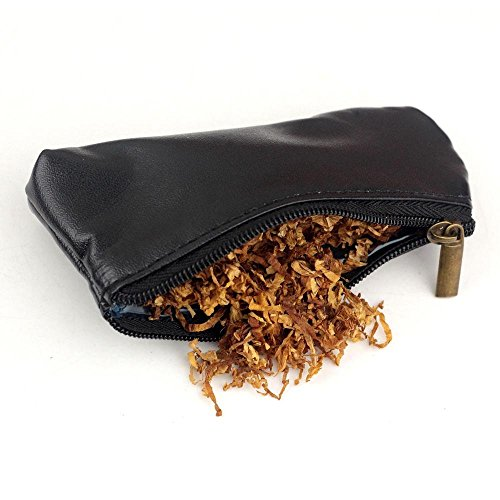 firedog Durable Zipper Cigarette Portable Smoking Pipe Tobacco Pouch Case Bag ()