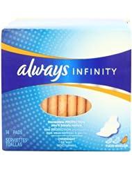 (历史最低)姨妈巾Always Infinity Unscented Pads with Wings Overnight用券后$10.96