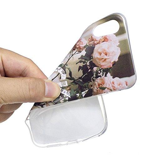 Cover iPhone X - Custodia in Silicone Morbida - Surakey iPhone X Custodia Trasparente TPU Crystal Clear Protettiva Bumper Sottile e Flessibile Back Skin Premium Gel Gomma Case Antigraffio Antiurto Pro