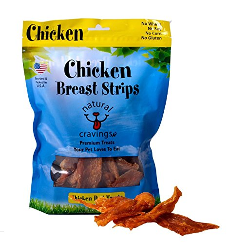 Natural Cravings Chicken Breast Strips 12 oz for Dogs Amazing Smell USA Made Grain Free Gluten Free Soy Free Corn Free