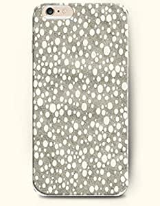 Apple iPhone 6 Case ( 4.7 inches) with Design of White Circular Dot In Grey Background - Polka Dot Series -OOFIT Authentic iPhone Skin