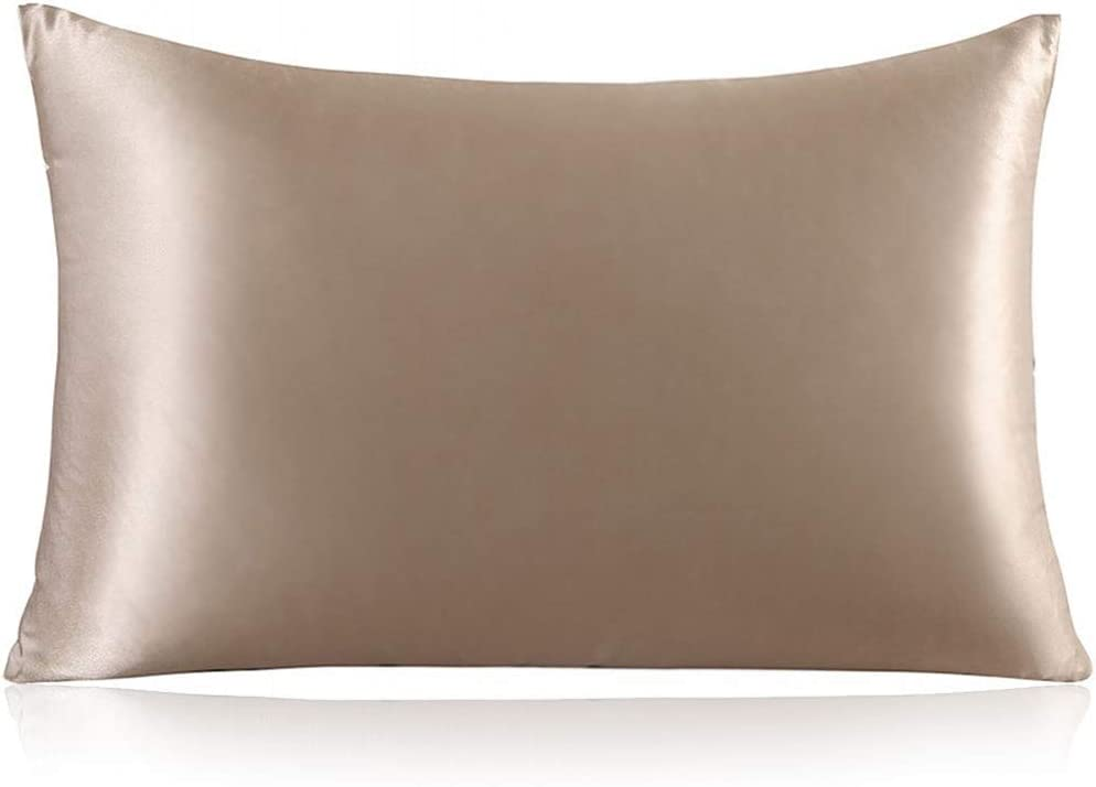 ZIMASILK 100% Mulberry Silk Pillowcase for Hair and Skin,with Hidden Zipper,Both Side 19 Momme Silk,600 Thread Count, 1pc (Queen 20''x30'', Taupe): Home & Kitchen
