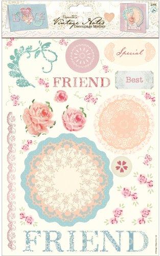 (Papermania Vintage Notes Decoupage Pack-Love 1 pcs sku# 1774579MA)