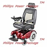 "Merits Health Products - Gemini - Heavy Duty Rear Wheel Drive Power Chair, 22""W x 20""D, Red - PHILLIPS POWER PACKAGE TM - TO $500 VALUE"