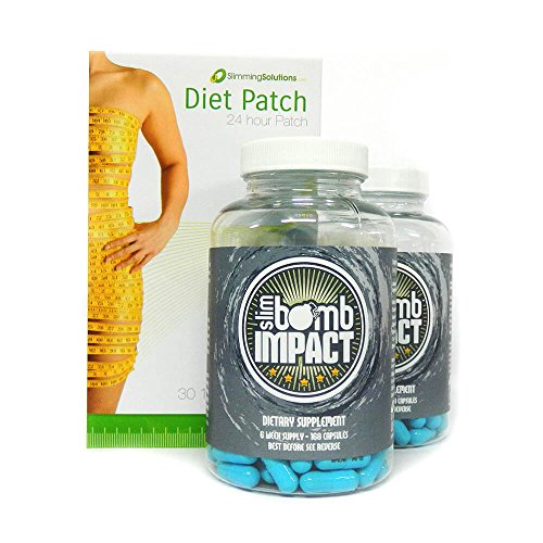 Strong Diet & Slimming Pills by Slim Bomb + FREE Weight Loss Patches worth...