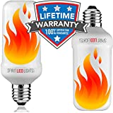 #1: LED Flame Effect Bulb | E26/E27 Flickering Fire Effect Light | Simulated Fire Accent Lighting | Decorative Atmosphere Light For Restaurant, Gazebo, Night Club, Porch, Yoga Studio