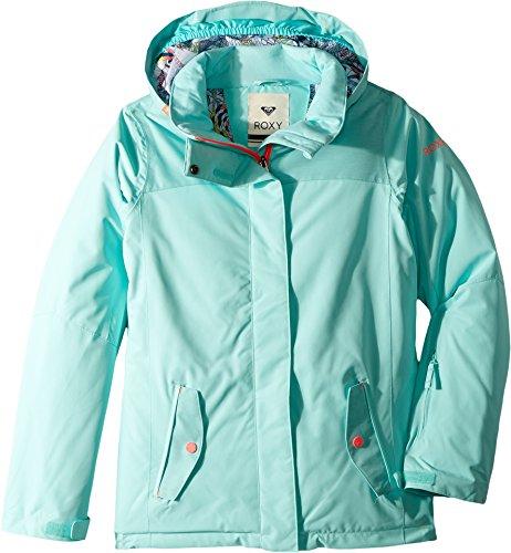 Roxy Big Girls' Jetty Solid Snow Jacket, Aruba Blue, 8/Small by Roxy