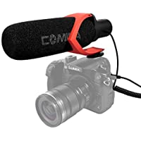 Comica CVM-V30 Video Microphone Super-Cardioid Directional Condenser Shotgun Camera Microphone with Low-Cut Filter for Nikon Canon Sony Camera / Camcorder(3.5mm Jack)