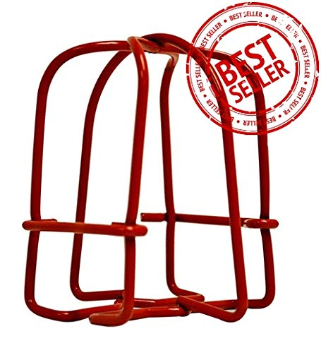 (10 Pack) Greatest Fire Sprinkler Head Guard Red Plated Easy Screw Cover Guard for 1/2'' IPS Pendent & Upright & Horizontal Sidewall Head - Double Hook by GREATEST PRODUCTS