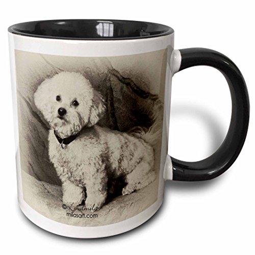 3dRose mug 4625 4 Bichon Frise Black