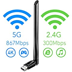 Driver Download  http://www.cudytech.com/download Specifications Model: WU1200 Standards: IEEE 802.11ac,IEEE 802.11a, IEEE 802.11n, IEEE 802.11g, IEEE 802.11b Wireless Signal Rates With Automatic Fallback :  11ac: Up to 867Mbps(Dynamic) 11n: ...