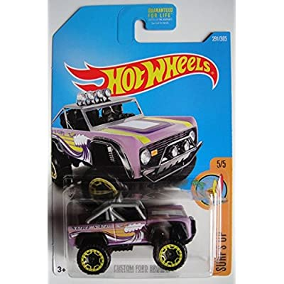 HOT WHEELS SURF\'S UP SERIES 5/5, PURPLE CUSTOM FORD BRONCO 291/365: Toys & Games [5Bkhe0503399]