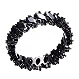 F&F Ring Charm Black Leaf Ring Jewelry For Men And Women Engagement Rings Wedding Rings