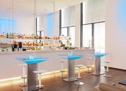 Stehtisch Studio 105 LED Pro Leuchttisch Loungetisch by Moree, Farbsteuerung:RC-Fernbedienung